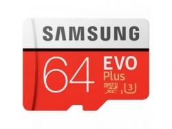 Memory card Samsung Evo Plus microSDXC 64GB, CL10 UHS1 + Adaptor SD