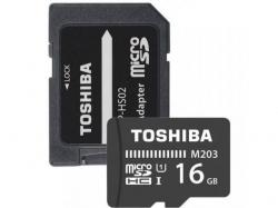 Memory Card Toshiba M203 MicroSDHC, 16GB, Class 10 + Adaptor SD