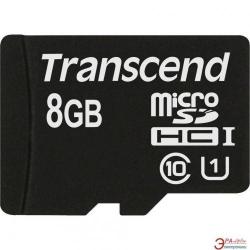 Memory Card Transcend microSDHC 8GB, class 10