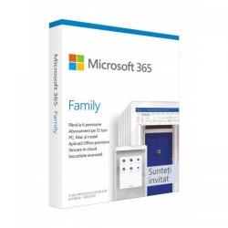 Microsoft 365 Family, Engleza, Medialess Retail, 1Year/1User