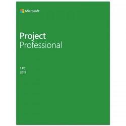 Microsoft Project Professional 2019, 32/64-bit, Romana, Medialess Retail