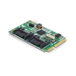 Modul MiniPCIe I/O PCIe full size 2 x SATA 6 Gb/s - Delock 95233