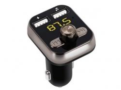 Modulator FM cu Bluetooth V4.0, slot card microSD si 2 x USB (2.1A+1A), afisaj LED TRANS07