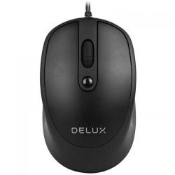 Mouse Optic Delux M366, USB, Black