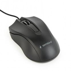 Mouse Optic Gembird MUS-3B-01, USB, Black