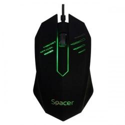 Mouse Optic Spacer SPMO-M20, RGB LED, USB, Black