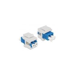 Mufa modulara Delock Keystone module, LC duplex female -  LC duplex female, White