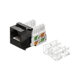 Mufa modulara Netrack 1xRJ45 8p8c, UTP, Cat5e, LSA with clamp, Black