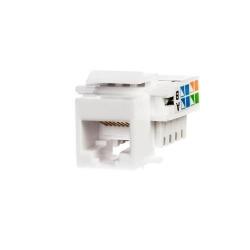 Mufa Netrack Keystone Jack module 1xRJ45 8p8c UTP, Cat5e LSA, White