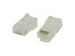 Mufa retea set 10 bucati RJ45 pentru cablu UTP CAT5 solid ; Cod EAN: 5412810182107