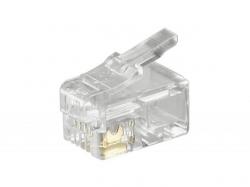 Mufa RJ10 (4P4C) pentru cablu plat RJ10-BU