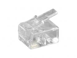 Mufa RJ11 (6P4C) pentru cablu plat RJ11-BU