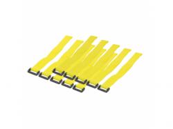 Organizator cabluri Logilink cu banda velcro, Yellow