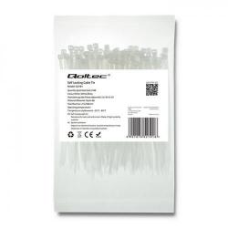 Organizator cabluri Qoltec 52191, 100buc, White