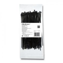 Organizator cabluri Qoltec 52192, 100buc, Black