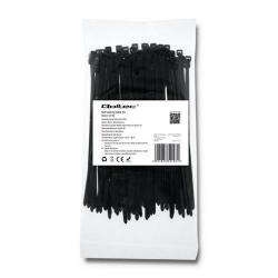 Organizator cabluri Qoltec 52196, 100buc, Black