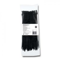 Organizator cabluri Qoltec 52198, 100buc, Black