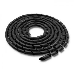 Organizator cabluri Qoltec 52253, 10m, Black