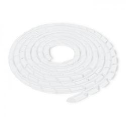 Organizator cabluri Qoltec 52264, 20mm, 10m, White