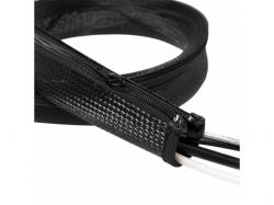 Organizator flexibil cabluri Logilink, 1m, Black