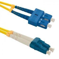 Patch Cord Optic Qoltec 54032, SC/UPC-LC/UPC, 2m