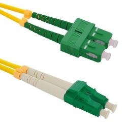 Patch Cord Optic Qoltec 54037, SC/APC - LC/APC, 3m