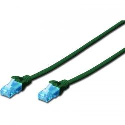 Patchcord Digitus Premium, U/UTP, CAT5e, 0.5m, Green