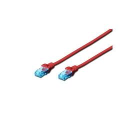 Patchcord Digitus, U/UTP, CAT5e, 0.5m, Red