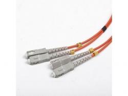 Patchcord fibra optica Gembird duplex, SC male - SC male, 1m, Orange