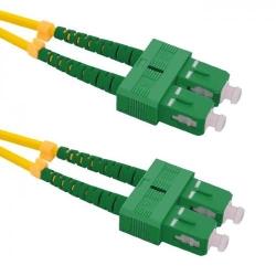Patchcord Optic Qoltec SC/APC-SC/APC, Duplex, 1.5m
