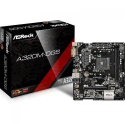 Placa de baza ASRock A320M-DGS, AMD A320, Socket AM4, mATX