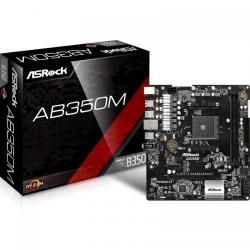Placa de baza ASRock AB350M, AMD B350, Socket AM4, mATX
