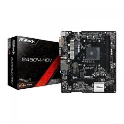 Placa de baza ASRock B450M-HDV, AMD B450, socket AM4, mATX