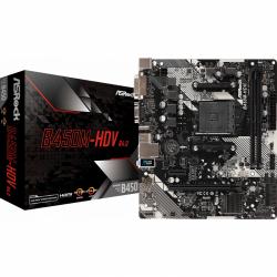 Placa de baza ASRock B450M-HDV R4.0, AMD B450, Socket AM4, MATX