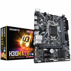Placa de baza GIGABYTE H310M A 2.0, Intel H310, Socket 1151 v2, mATX