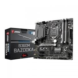 Placa de baza MSI B360M BAZOOKA, Intel B360, Socket 1151 v2, mATX