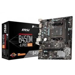 Placa de baza MSI B450M-A PRO MAX, AMD B450, Socket AM4, mATX