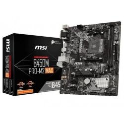 Placa de baza MSI B450M PRO-M2 MAX, AMD B450, Socket AM4, mATX