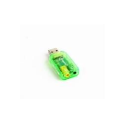 Placa de sunet Gembird Virtus, USB, Green