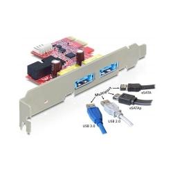 Placa PCI Express la 2 x USB 3.0 + eSATAp, Delock 89288
