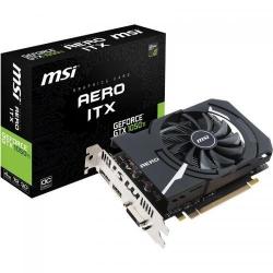 Placa video MSI nVidia GeForce GTX 1050 Ti AERO ITX OCV1 4GB, GDDR5, 128bit