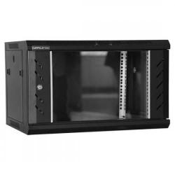 Rack 12U 600x450, montare pe perete, usa din sticla, panouri laterale detasabile si securizate MW.6412.9001