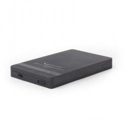 Rack extern Gembird, USB 3.1 tip C - SATA, 2.5inch, Black