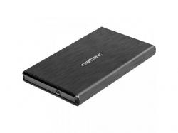 Rack extern Natec Rhino Go, SATA - USB 3.0, 2.5inch, Black