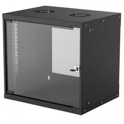 Rack Intellinet 714174, 19inch/9U, 540x400mm, Black