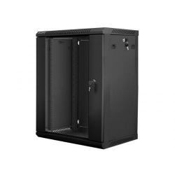 Rack Lanberg wall-mounted, 19inch, 15U, 600x450mm, Black