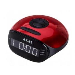 Radio cu ceas Akai ACR-267, Black-Red