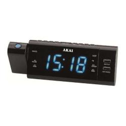 Radio cu ceas Akai ACR-3888, Bluetooth, Black