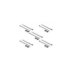 Set 10 bride 100 x 2.5mm + suport prindere 20 x 20 mm Negru Delock 18672