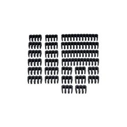 Set cleme Akasa Cable Comb Kit - Black, AK-MX293